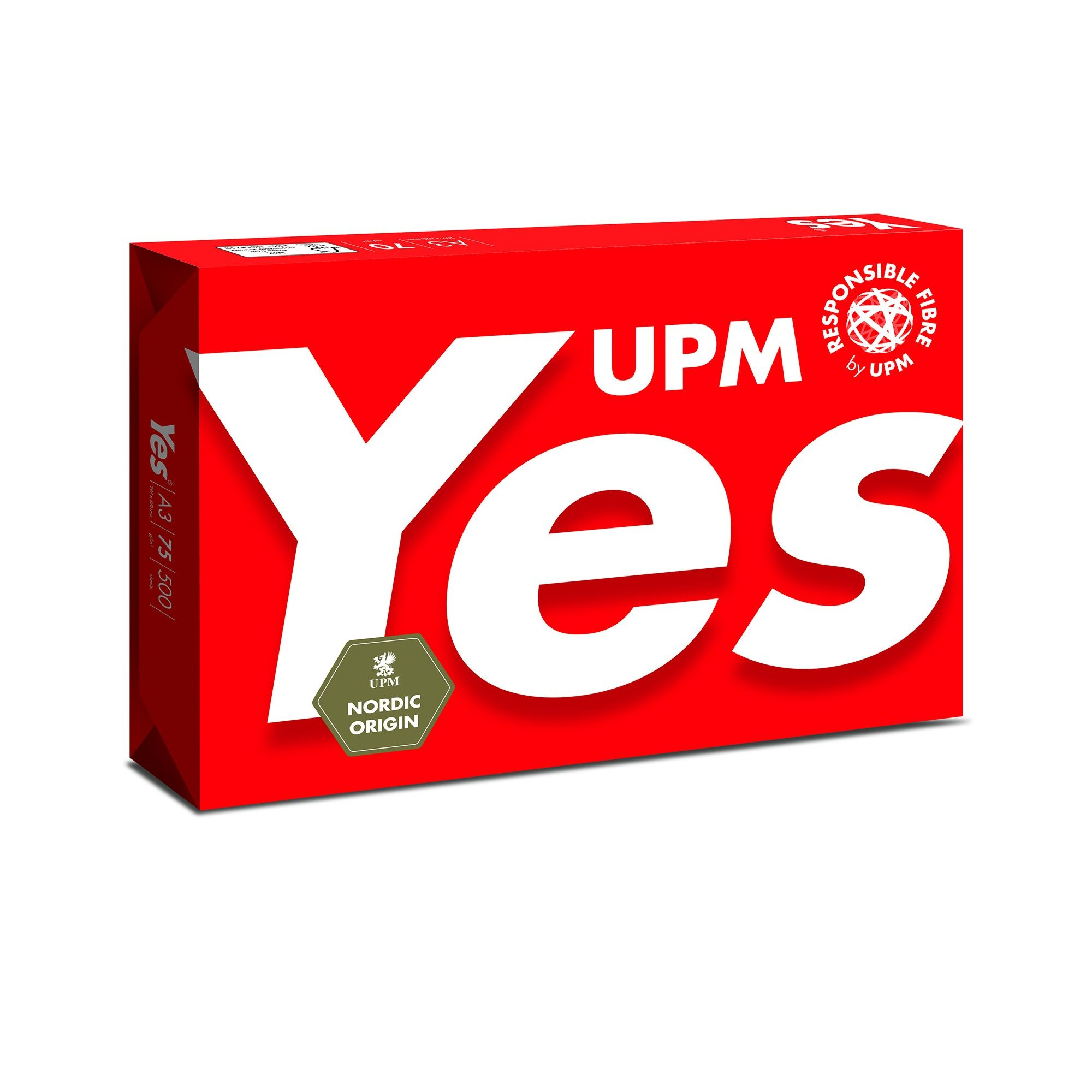 UPM YES RED 75GSM A3