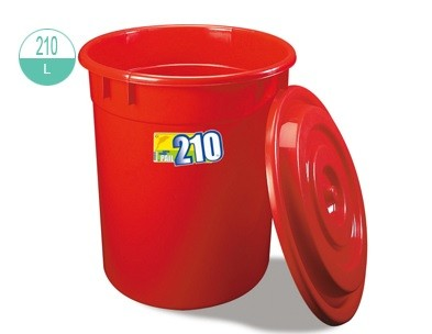 2255/-1 Round Pail With Lid 210L