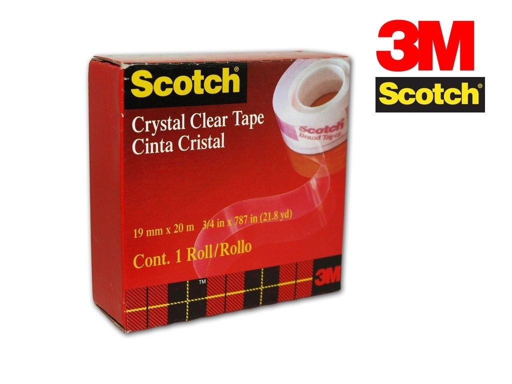 Scotch - CC1920-B - Crystal Clean Tape 3/4inx22yds