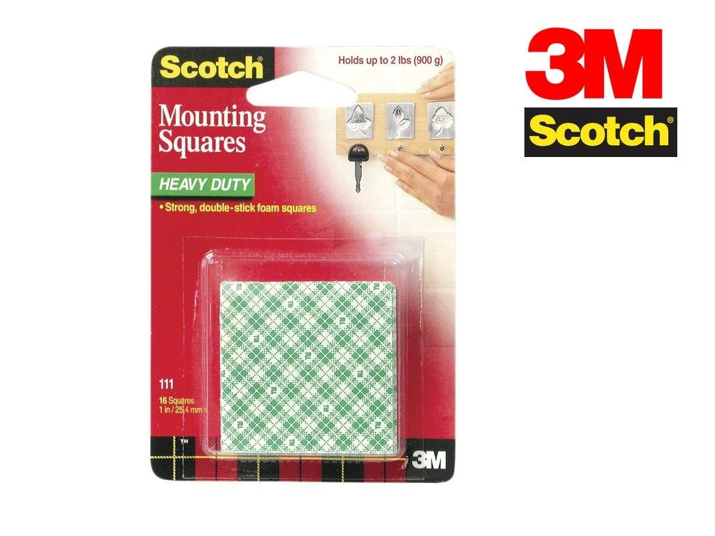 Scotch - 111 - Mounting Square Tape 1inx1in 16s
