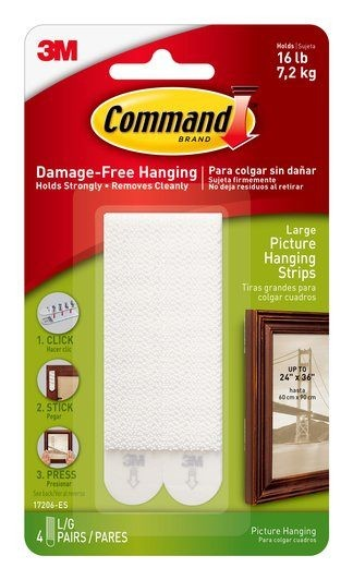 3M - 17206 - Large Picture Hanging Strips 4 lb 4s