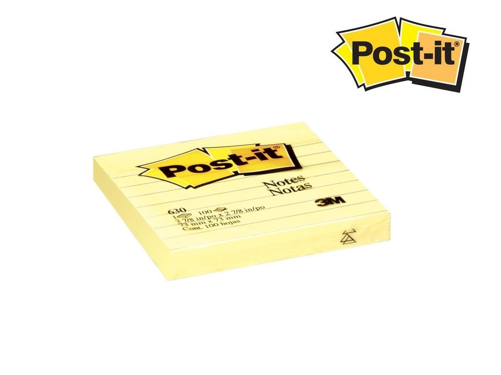 3M - 630SS - Post-it Notes With Line 3inx3in 12s