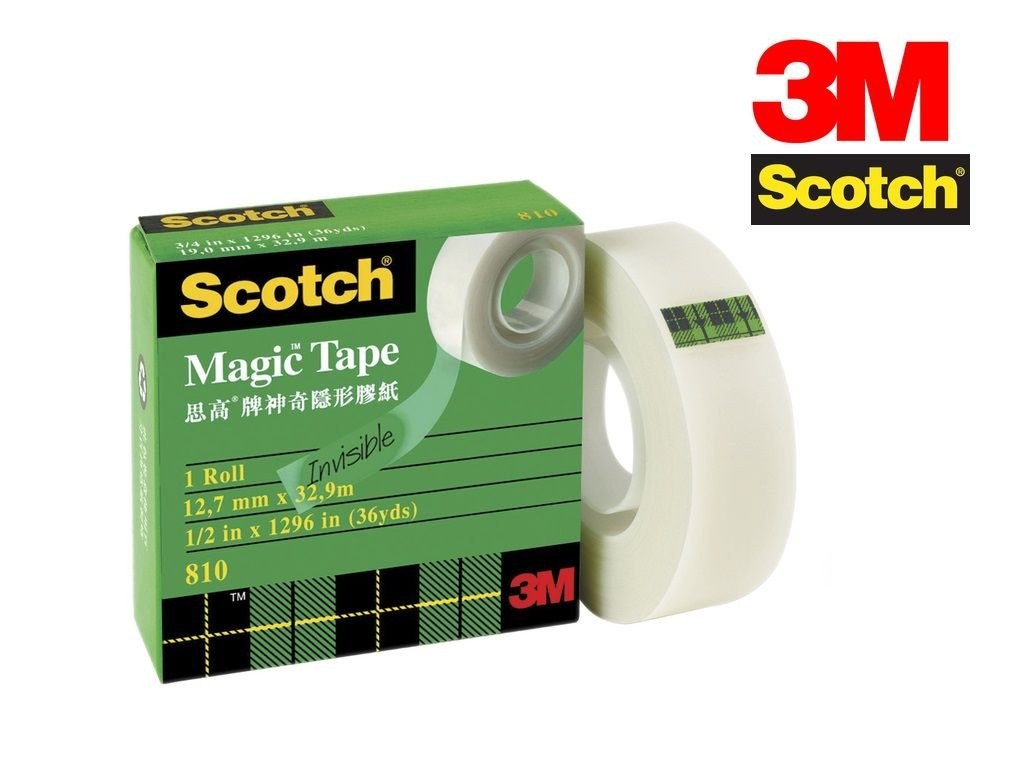Scotch - 810 - Magic Tape 1/2inx36yds