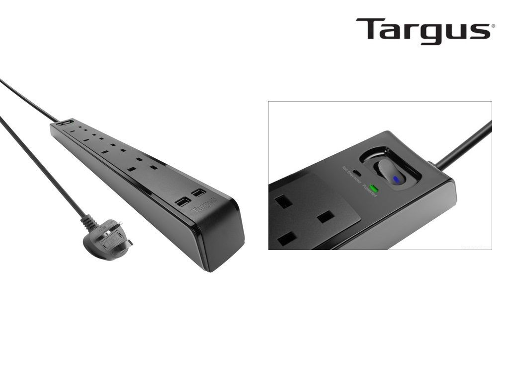 Targus - APS10 - Smart Surge 4 Power Strip with 2 USB Ports
