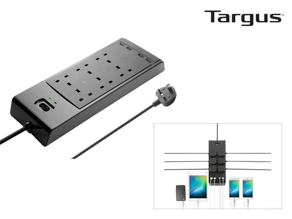 Targus - APS11 - Smart Surge 6 Power Strip with 4 USB Ports