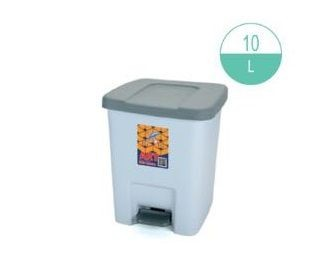 (#)ART - 417 - Rectangular Step-on Rubbish Bin 10L
