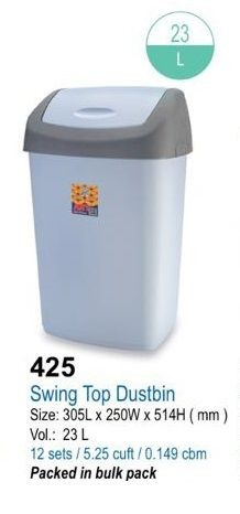 (#)ART - 425 - Swing Top Rubbish Bin 23L