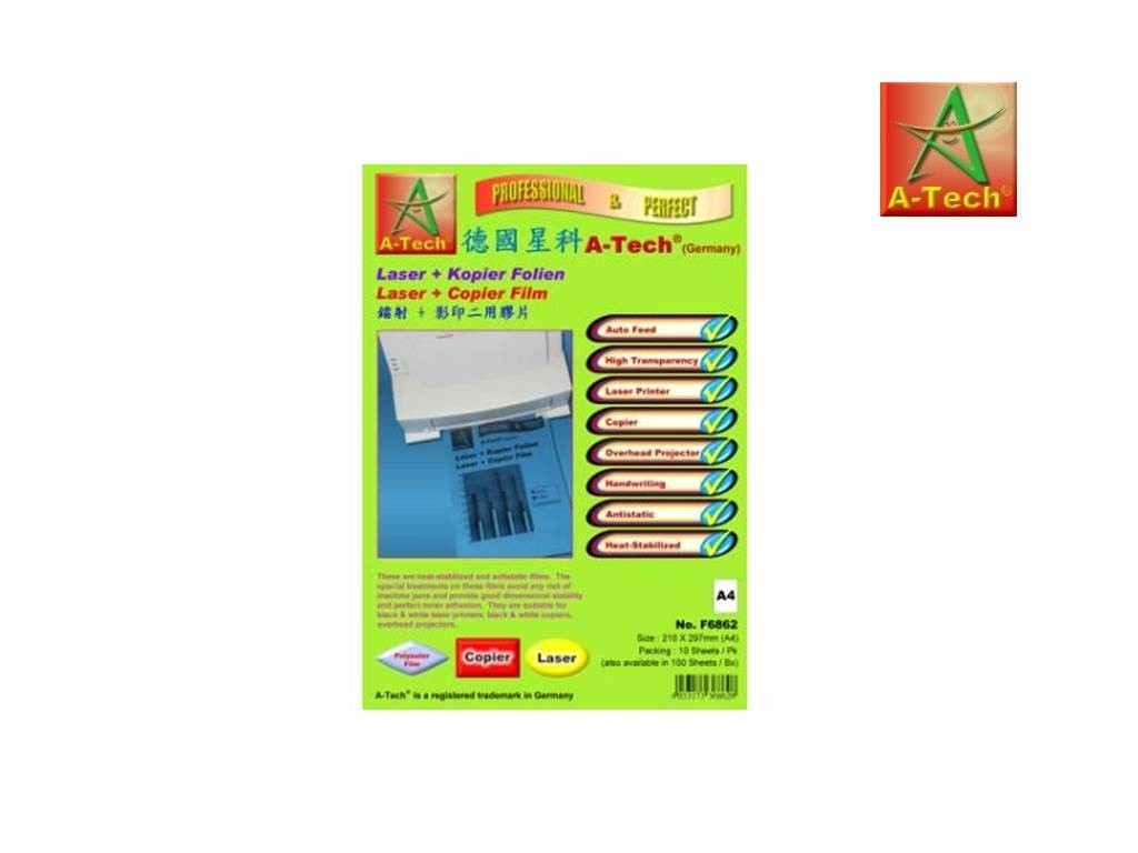 A-Tech - F6962 - Laser+Copier Transparency Film A4