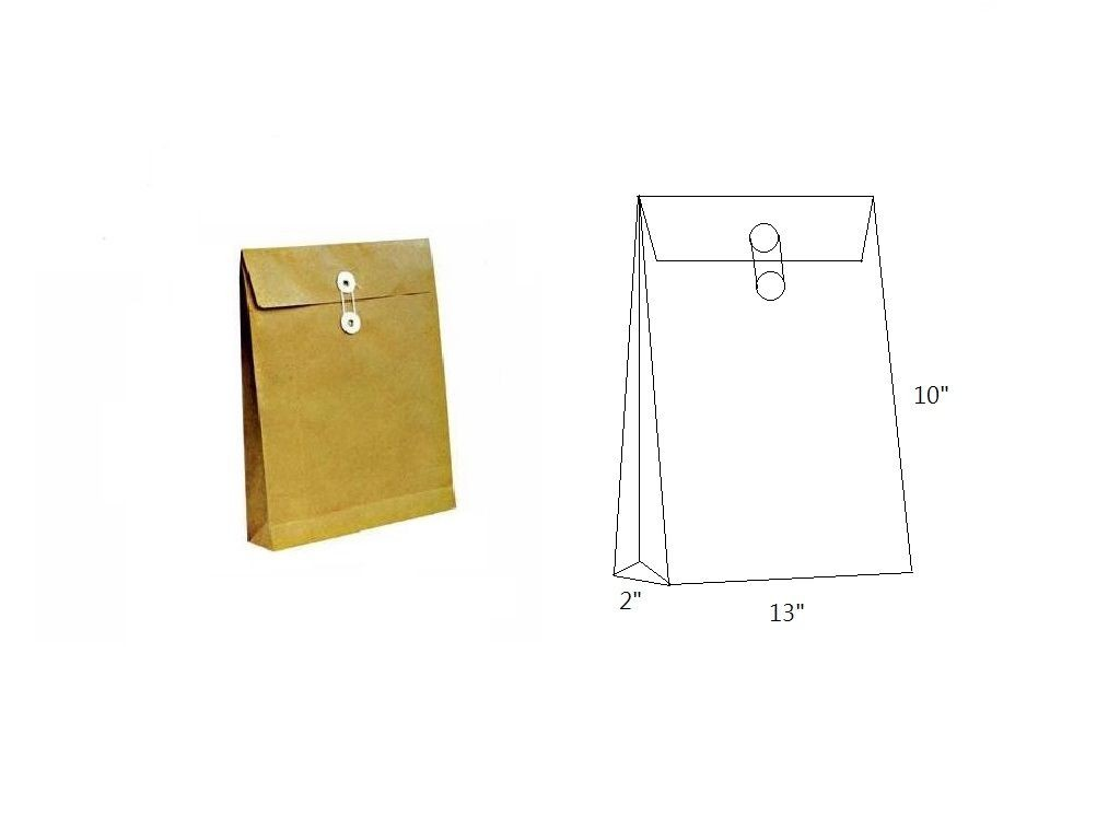 (m)Brown Envelope with String 10x13x2in
