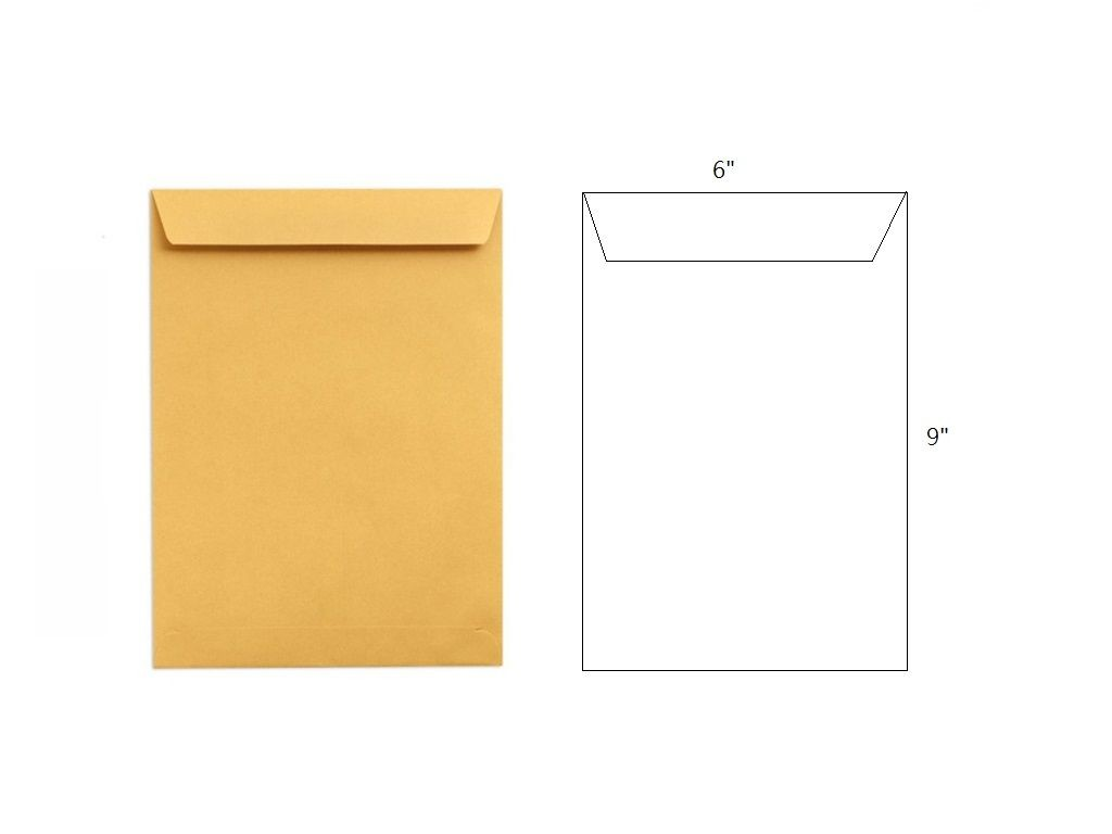 (m)036 Brown Envelope without String 6x9in