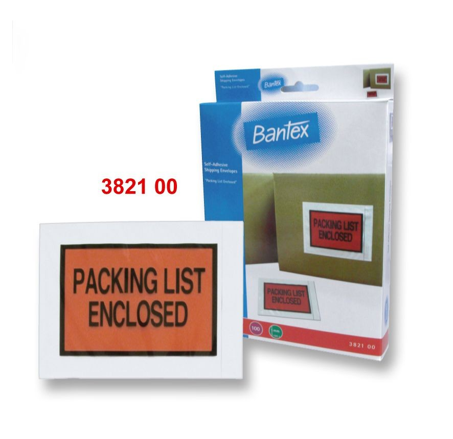 Bantex - 3821 - Shipping Evelope A6 (PACKING LIST ENCLOSED) 100s