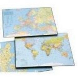 Bantex - 4150 - World Map Desk Mat