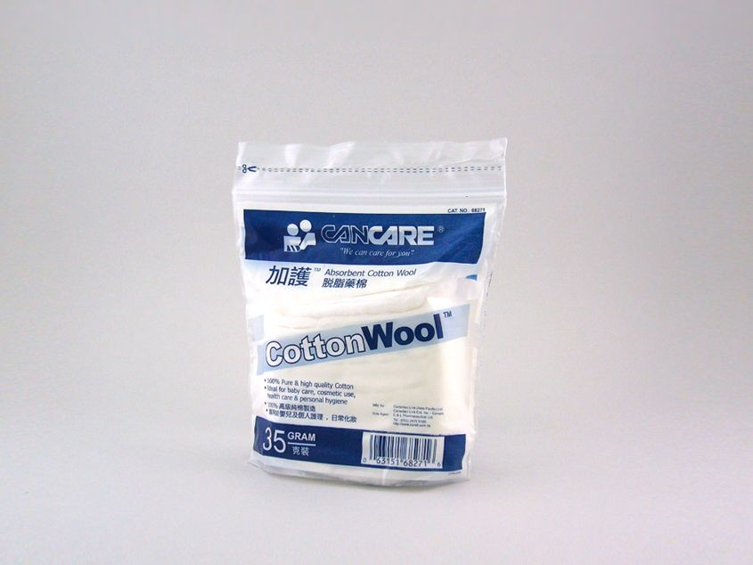 Cancare - Absorbent Wool Cotton pad 35g