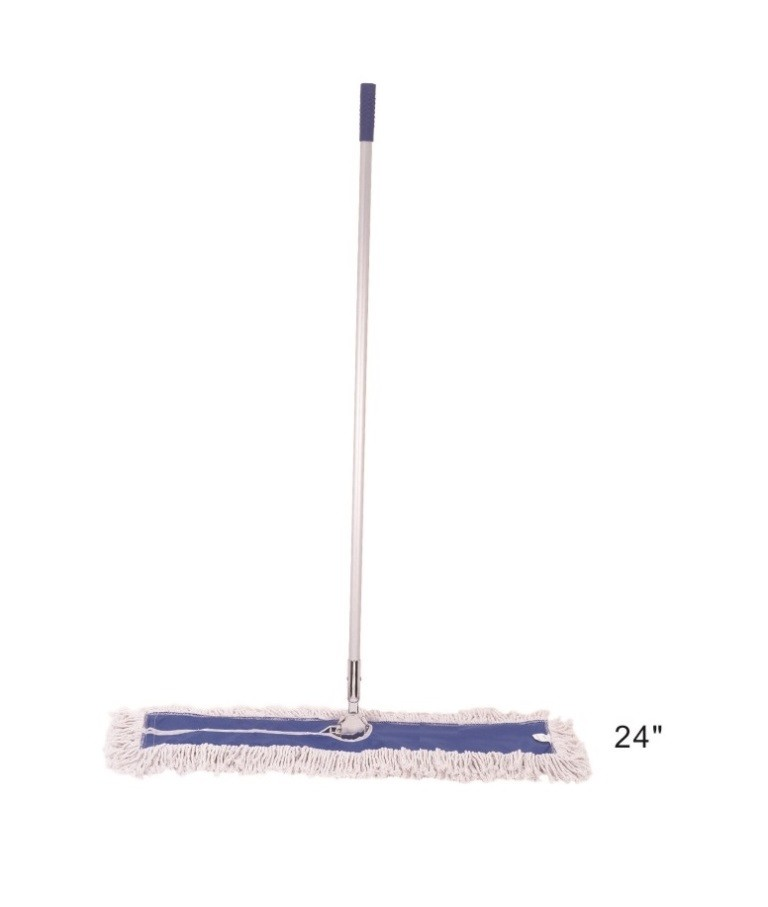 24in Cotton Dust Mop with handle - CLEANING SUPPLIES