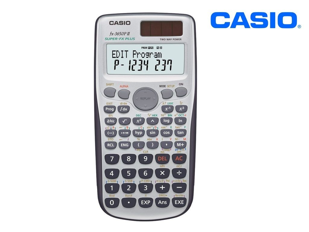 Casio - FX-3650P2 - Scientific Calculator 10+2 Digits