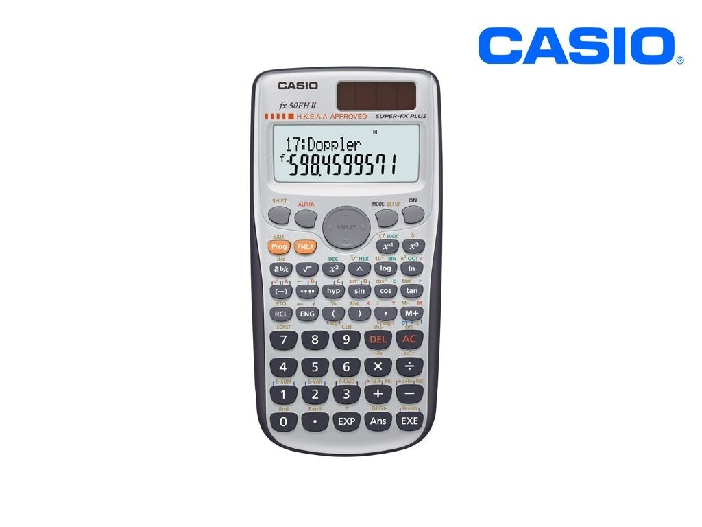 Casio - FX-50FH2 - Scientific Calculator 10+2 Digits