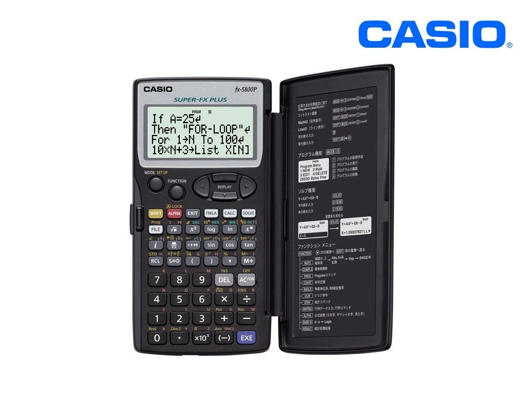 Casio - FX-5800P - Scientific Calculator 10+2 Digits