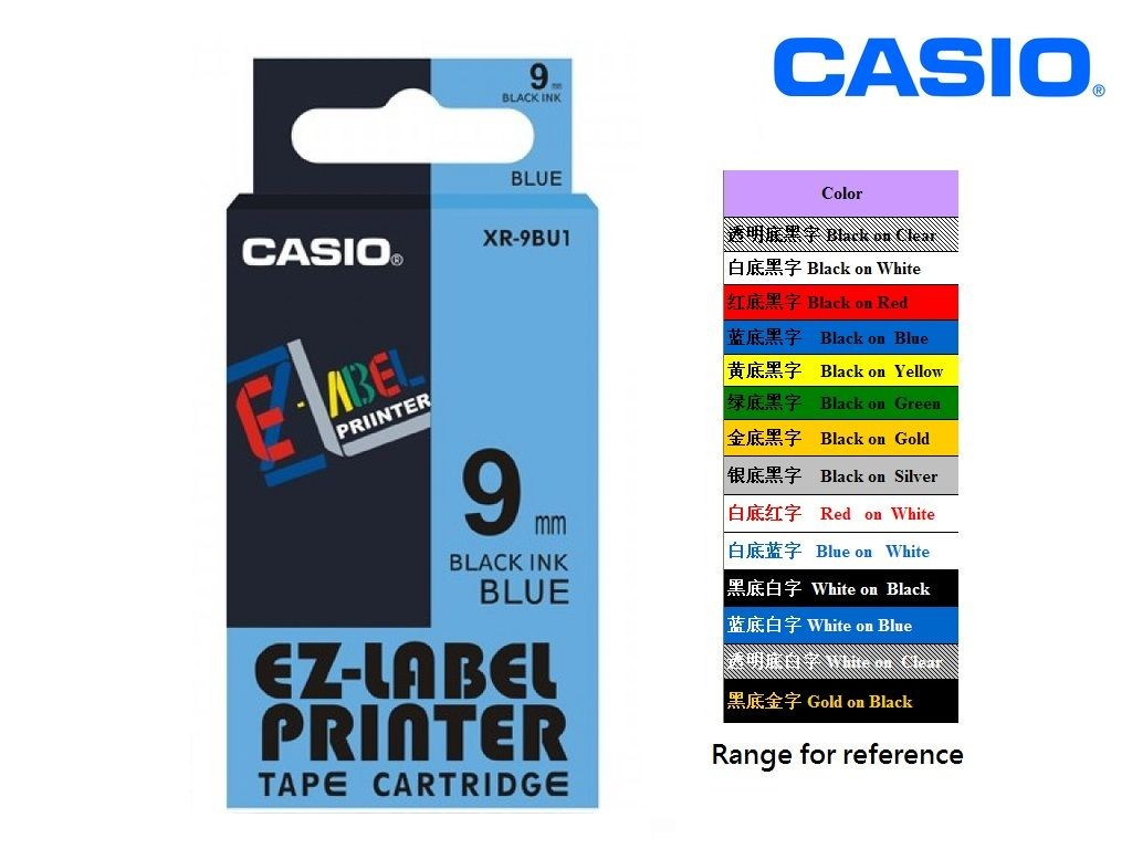 Casio - XR-9BU1 - 9mm Labelling Tape