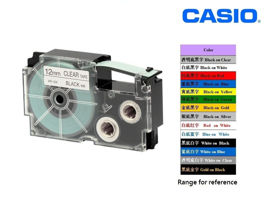 Casio - XR-12X1 - 12mm Labelling Tape