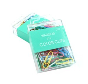 Warrior - 216 - Colour Plastic Paper Clip