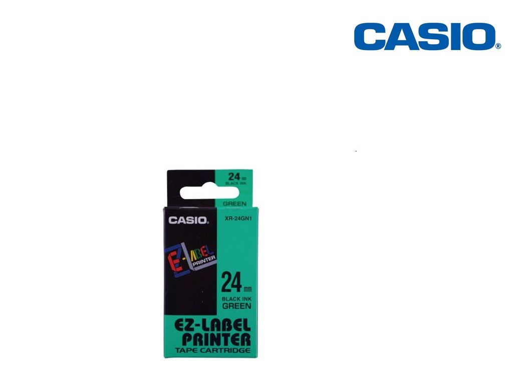 Casio - XR-24GN1 - 24mm Labelling Tape