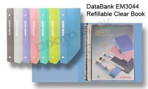 DataBank - EM3044 - Refillable Clear Book with 20 Pockets A4 <Yellow>