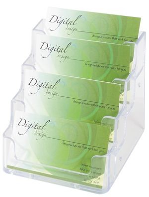 Deflect-O - 70841 - Business Card Holder 4 Layers