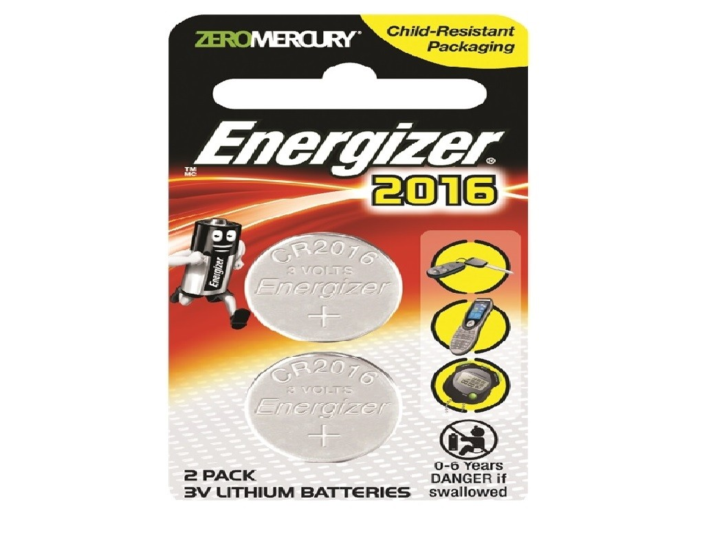 Energizer - CR2016 - Lithium Button Cell 3V (5s)