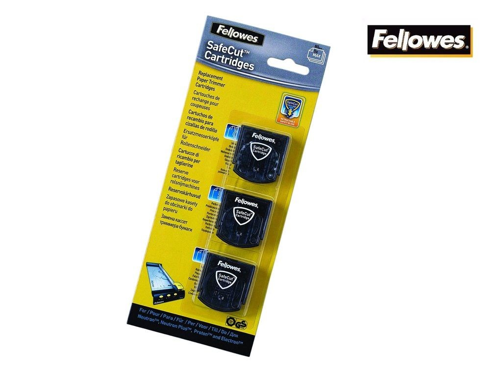 Fellowes - SafeCut Cut Blades 3s (3 cutting shape)