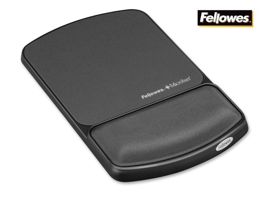 Fellowes - FW9175101 - Microban Comfort Gel Wrist Rest & Mouse Pad