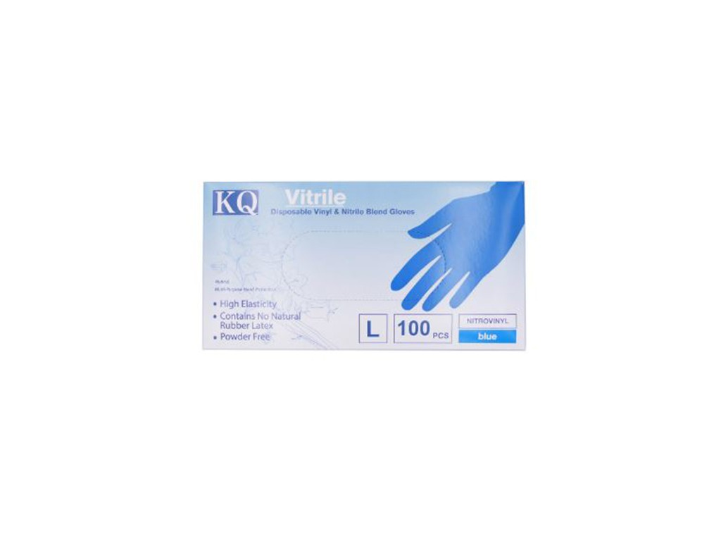KQ - Nitrile Powder-Free Glove 100pc <Large>