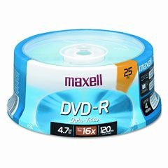 Maxell - DVD-R Data 4.7GB 8x/16x 25s