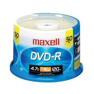Maxell - DVD-R Data 4.7GB 8x/16x 50s