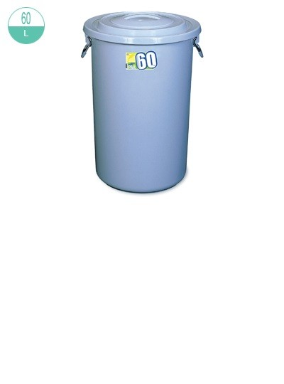 2217/-1 Round Pail  with Lid 60L