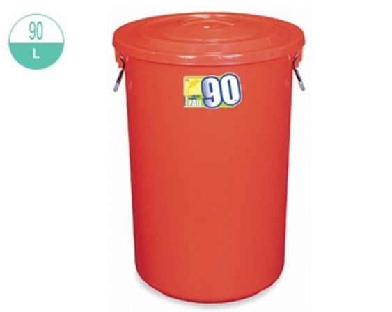 2220/-1 Round Pail With Lid 90L