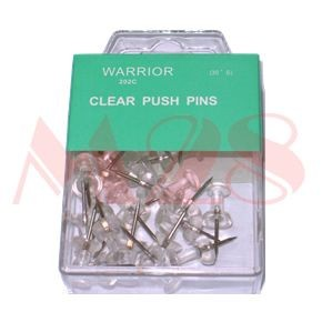 Warrior - 202C - Clear Push Pin