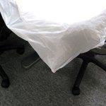 Plastic White Table Cloth 38x38 50s / pck