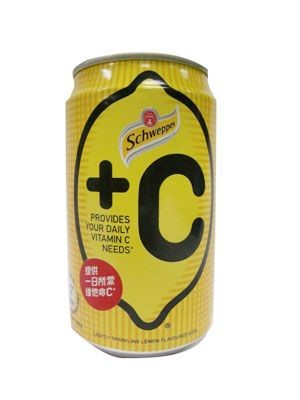 Schweppes - +C Lemon 330ml 6s