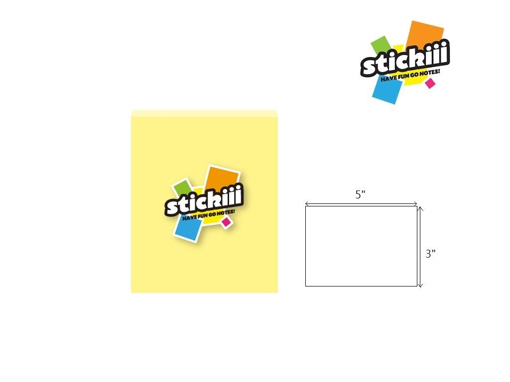 "Stickiii Memo - Light IT115 Canary (100s) 3""x5"""