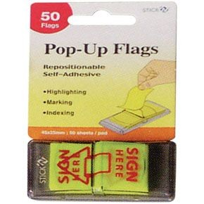 StickN - 26015 - Pop Up Flags 45x25mm