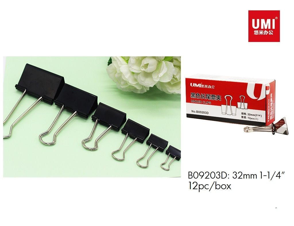 Umi - B09203D - Foldback Clip - 1-1/4in 32mm 12s