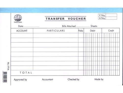 Account Voucher - 1771A - Transfer Voucher