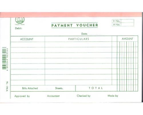 Account Voucher - 1781A - Payment Voucher