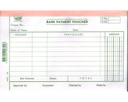 Account Voucher - 1784A - Bank Payment Voucher
