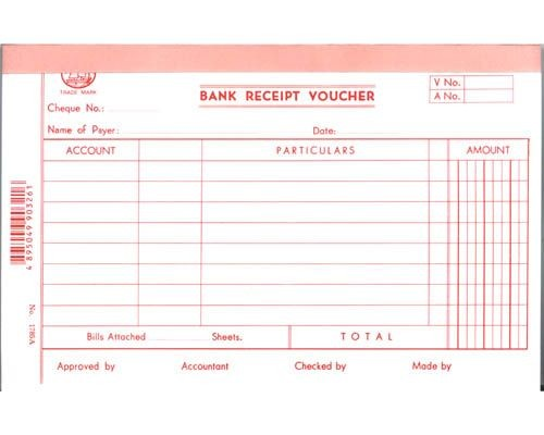 Account Voucher - 1785A - Bank Receipt Voucher