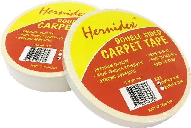 Hernidex - Double Side Carpet Tape 1/2in x 15m