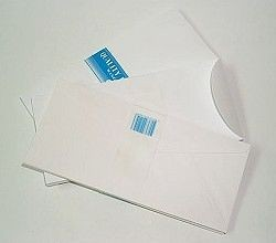 623 White Envelope without Window 4x9in  Vertical