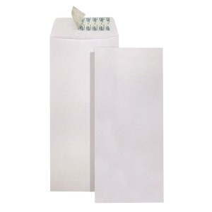 632 White Envelope without Window 4.5x9.5in  Vertical
