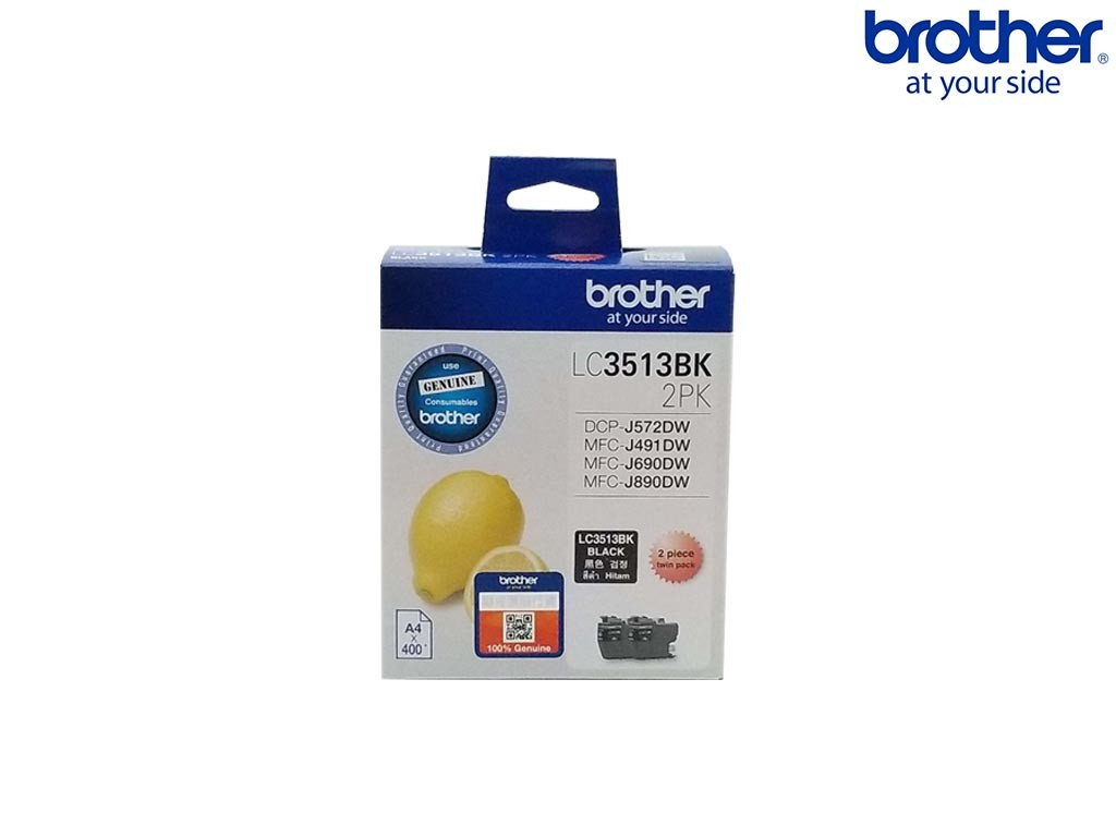 Brother LC-3513BK-2PK Ink (Twin Pack) 2s <Black>