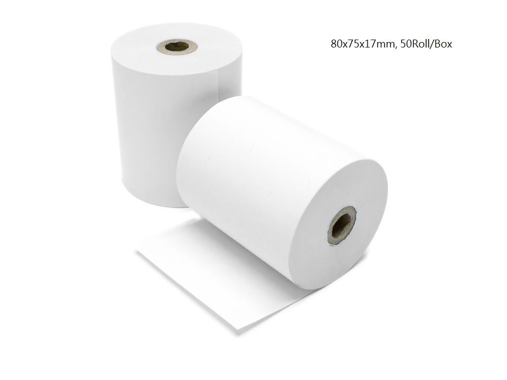 Thermal Paper Roll: 80mm x 75mm x 17mm